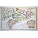 Carte de L'Acadie et Pais Voisins