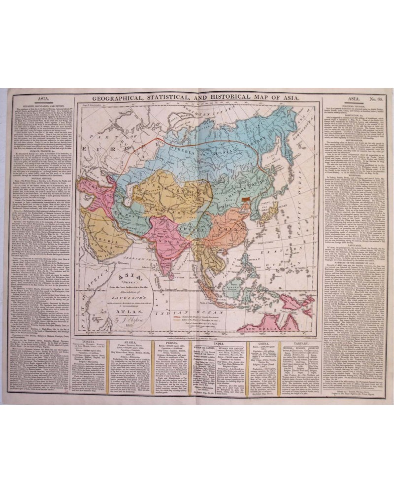 Map Of Asia 800.Geographical Statistical And Historical Map Of Asia