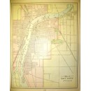 Map of Bay City/ Saginaw reverse