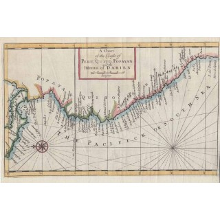 A Chart of the Coasts of Peru, Quito, Popayan...Darien