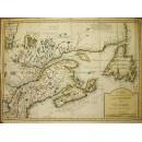 Karte Neu Frankreich oder Canada