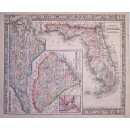 County Map of Florida...of South Carolina...of North Carolina