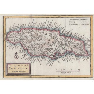 A New Map of the Island of Jamaica