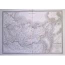 Carte de la Siberie ou Russie D'Asie