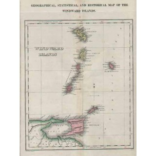 Historical Map of the Windward Islands