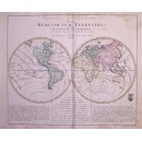 Tabula Geographica.... Hemisphaeri Terrestris
